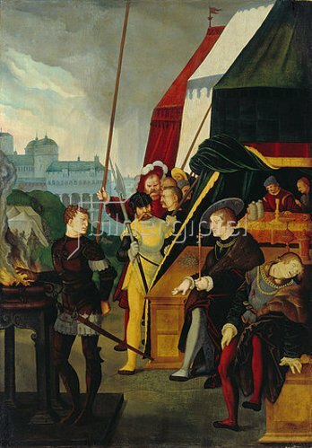 Hans Baldung (Grien): Mucius Scaevola. 1531