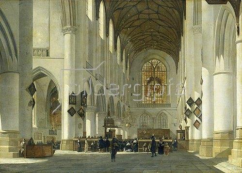 Job Adriaensz Berckheyde: Inneres der St.Bavo-Kirche in Haarlem. 1665.