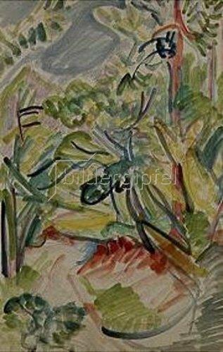 Ernst Ludwig Kirchner: Waldweg bei Königstein. 1916.
