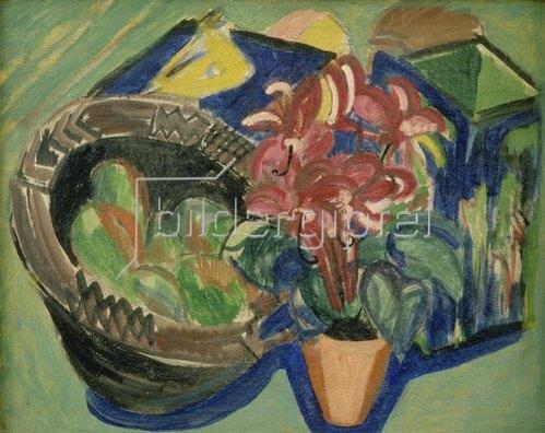 Ernst Ludwig Kirchner: Stilleben mit Früchtekorb. 1918/19