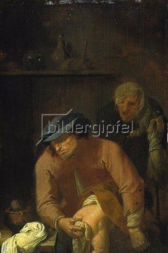 Adriaen Brouwer: Unangenehme Väterpflichten. Um 1631.