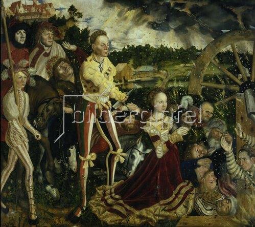 Lucas Cranach d.Ä.: Katharinen-Altar. Mitteltafel: Die Enthauptung der hl. Katharina. 1506