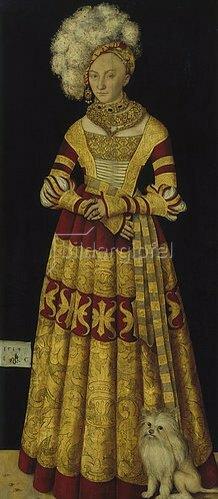 Lucas Cranach d.Ä.: Herzogin Katharina von Mecklenburg, Bildnis, 1514
