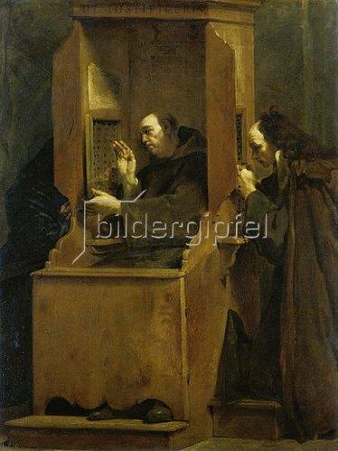 Giuseppe (Lo Spagnuolo) Crespi: Die Beichte.
