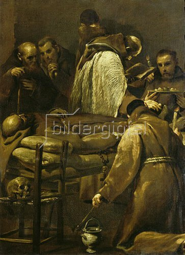 Giuseppe (Lo Spagnuolo) Crespi: Die letzte Ölung.