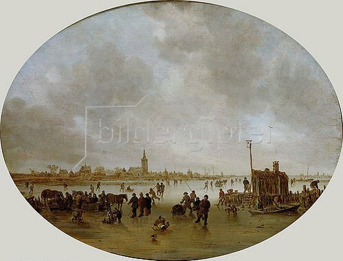 Jan van Goyen: Winter am Fluss. 1643.