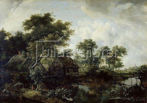 Meindert Hobbema: Die Wassermühle.