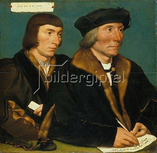 Hans Holbein d.J.: Doppelbildnis des Thomas Godsalve und seines Sohnes Sir John. 1528.