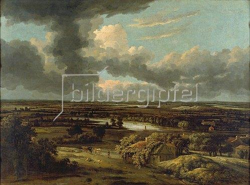 Philips Koninck: Holländische Landschaft mit Blick von den Dünen in die Ebene. Um 1664.