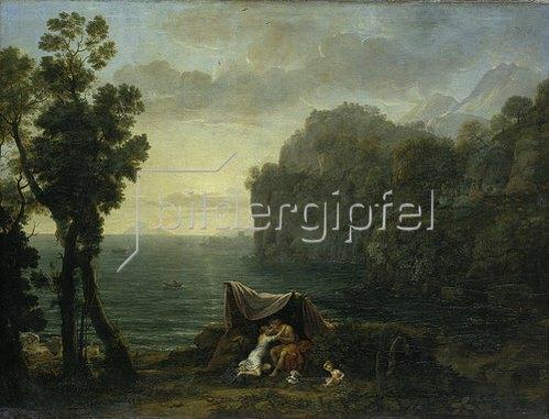 Claude Lorrain (Gellée): Küstenlandschaft mit Acis und Galatea. 1657.