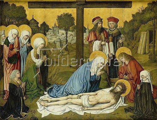 Meister des Hausbuches: Die Beweinung Christi. Nach 1480.