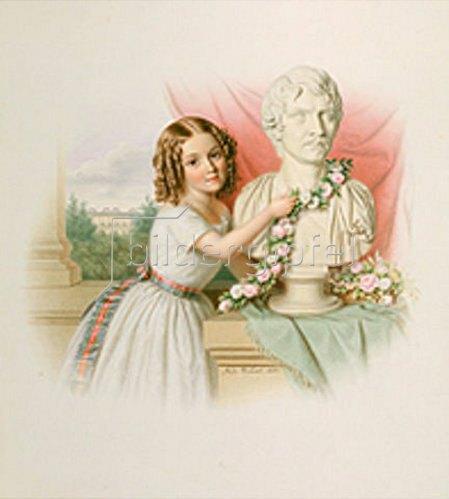 Bodo Winsel: Kindliche Huldigung für König Ludwig I. von Bayern. 1850