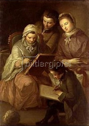 Adam Friedrich Oeser: Die Kinder des Malers. 1766.