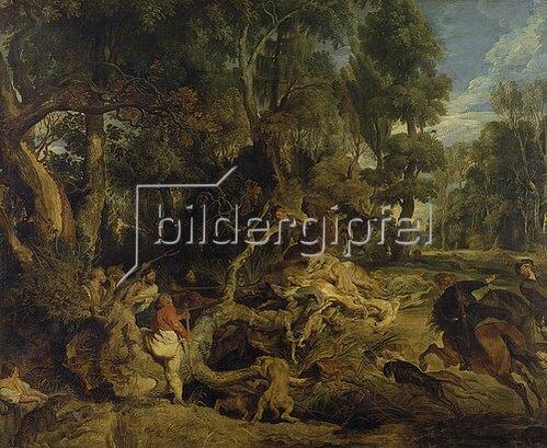 Peter Paul Rubens: Die Wildschweinjagd. Um 1615/1620.