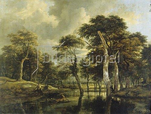 Jacob Isaacksz van Ruisdael: Die Jagd. Um 1665/1670.