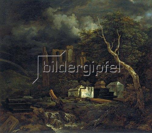 Jacob Isaacksz van Ruisdael: Der Judenfriedhof bei Ouderkerk. 1653/1655.