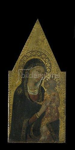 Sienesisch: Maria mit dem Kinde.
