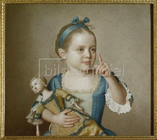 Jean Etienne Liotard: Mädchen mit Puppe.