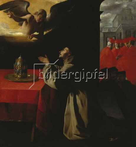 Francisco Zurbaran y Salazar: Der hl. Bonaventura im Gebet. 1629