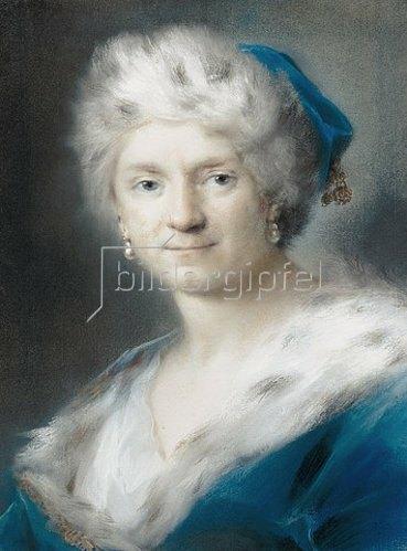 Rosalba Carriera: Selbstbildnis als Winter. 1731