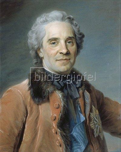 Maurice Quentin de La Tour: Moritz Graf von Sachsen, Marschall von Frankreich. 1748.