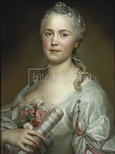 Anton Raphael Mengs: Die Sängerin Caterina Regina Mingotti  Um 1750.