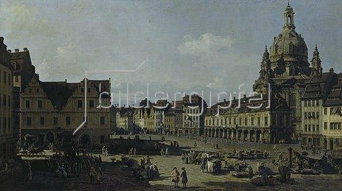 Bernardo (Canaletto) Bellotto: Der Neumarkt in Dresden von der Moritz-Strasse aus. 1749-1751.