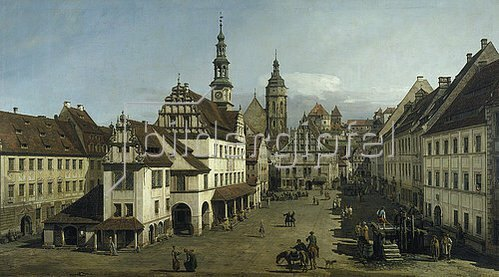 Bernardo (Canaletto) Bellotto: Der Marktplatz zu Pirna. 1753/54