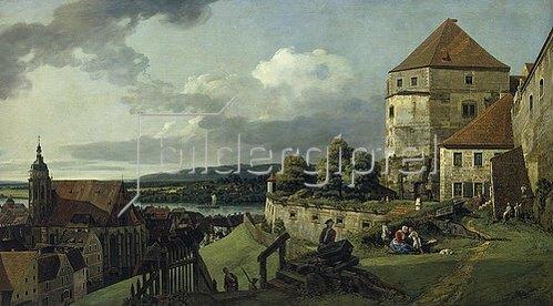 Bernardo (Canaletto) Bellotto: Pirna von der Festung Sonnenstein aus gesehen. Zwischen 1753/55