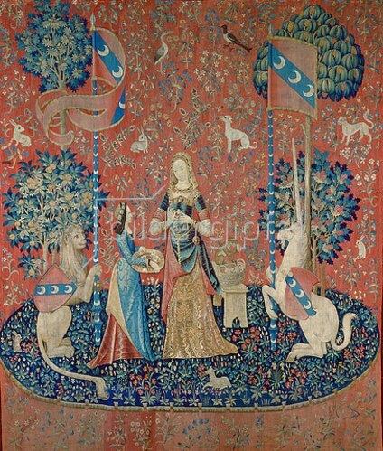 Französisch: Die Dame mit dem Einhorn: Allegorie des Duftes. Zwischen 1484 und 1500