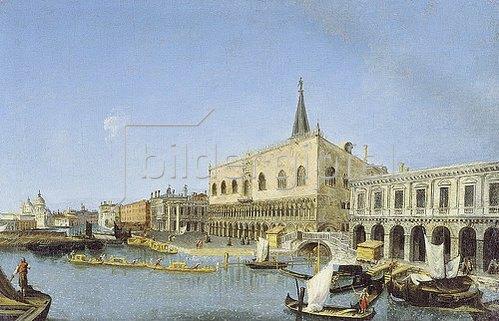 Michele Marieschi: Vedute des Palazzo Ducale am Bacino di San Marco gegen Santa Maria della Salute.