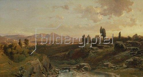 Fritz Bamberger: Gebirgslandschaft in Spanien. 1870.