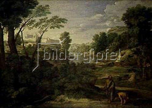 Nicolas Poussin: Landschaft mit Diogenes. 1648.