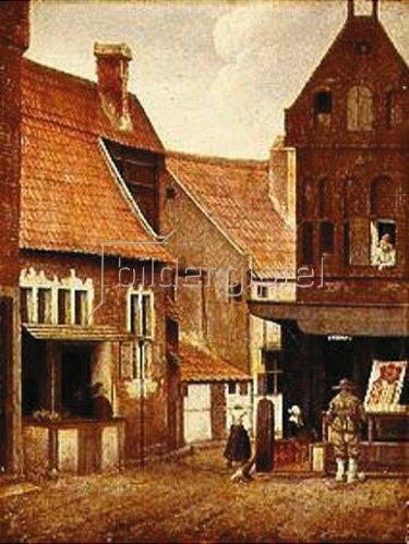 Jacobus Vrel: Straßenbild, Straße