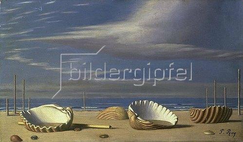 Pierre Roy: Strandlandschaft mit Muscheln. 1931.