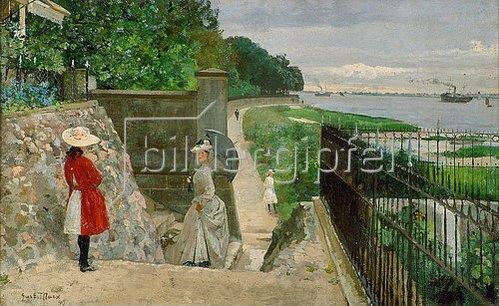 Gustav Marx: Spaziergang an der Elbe. 1890.