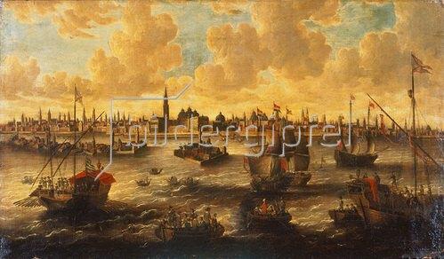 Pieter van de Velde: Ansicht von Venedig.