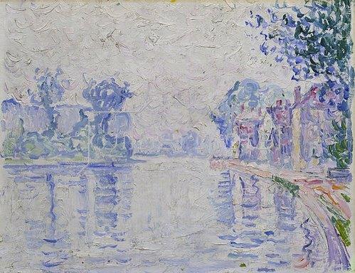 Paul Signac: Die Seine bei Samois. Um 1900.