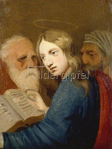 Johann Friedrich Overbeck: Der 12-jährige Jesus mit den Schriftgelehrten. 1807.