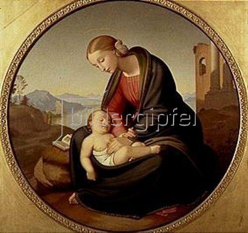 Johann Friedrich Overbeck: Maria mit dem schlafenden Jesuskind. 1842/1853.