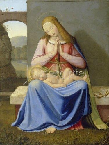 Johann Friedrich Overbeck: Die Madonna vor der Mauer. 1811.