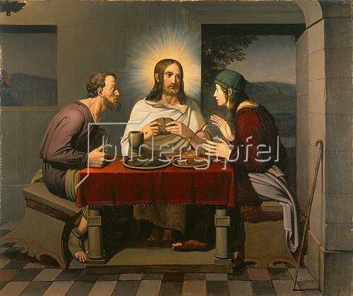Johann Friedrich Overbeck: Christus und die Jünger in Emmaus. 1808
