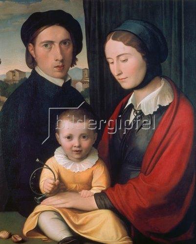 Johann Friedrich Overbeck: Familienbild. 1820/1830.