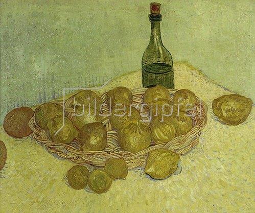 Vincent van Gogh: Stilleben mit Flasche, Zitronen und Orangen. 1888.
