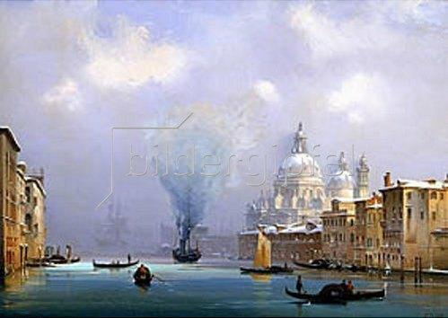 Ippolito Caffi: Venedig im Winter.