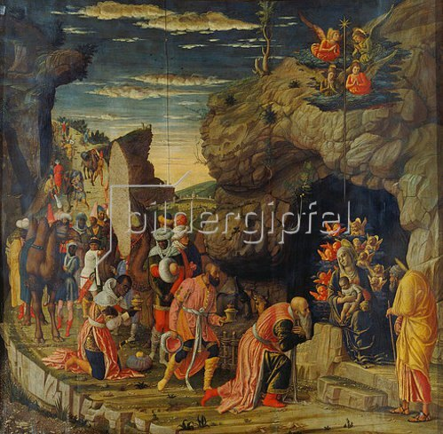Andrea Mantegna: Die Anbetung der Könige (mittlere Tafel).