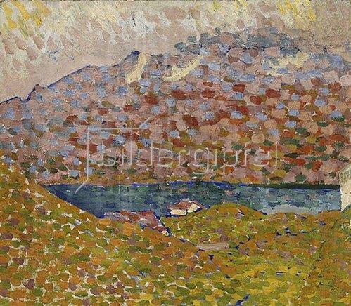 Giovanni Giacometti: Blick auf den Silbersee und Piz Corvatsch. Um 1906