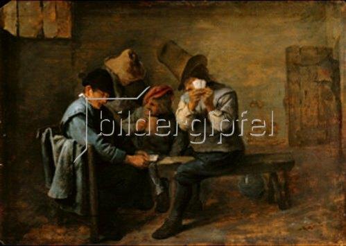Adriaen Brouwer: Kartenspielende Bauern.