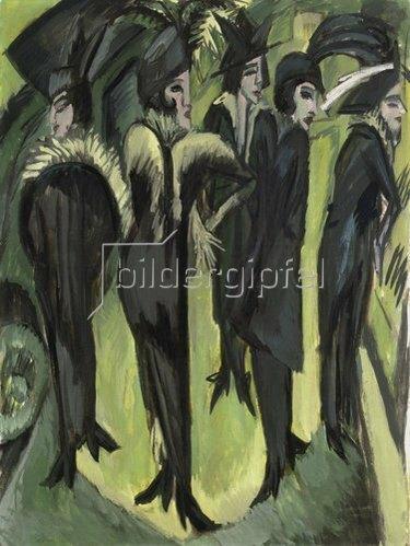 Ernst Ludwig Kirchner: Fünf Frauen auf der Strasse. 1913