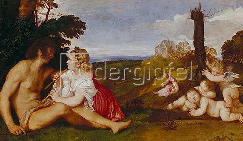 Tizian (Tiziano Vecellio): Die drei Lebensalter.
